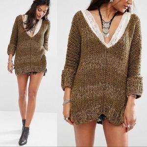 {Free People} Georgia Chunky Knit Tunic Sweater